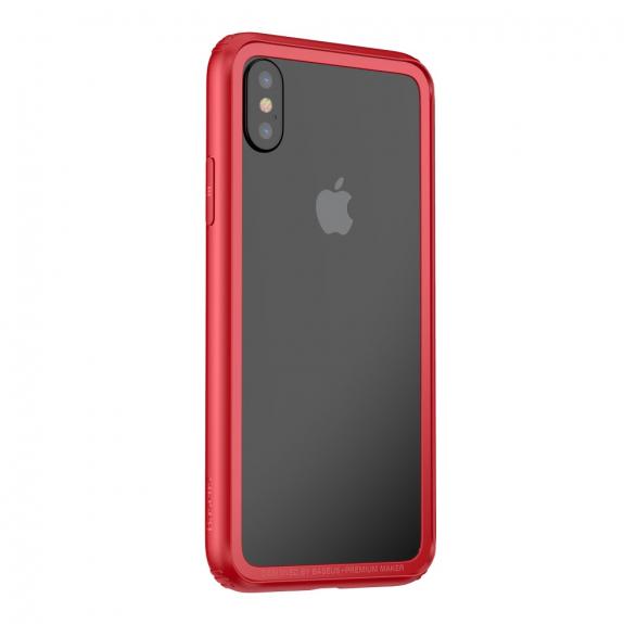 BASEUS ochranný rámeček pro Apple iPhone XS / iPhone X - červená - možnost vrátit zboží ZDARMA do 30ti dní