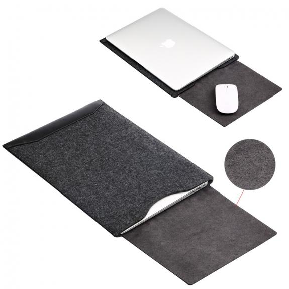 """SOYAN obálka s podložkou pro Apple MacBook 13"""" - černá - možnost vrátit zboží ZDARMA do 30ti dní"""
