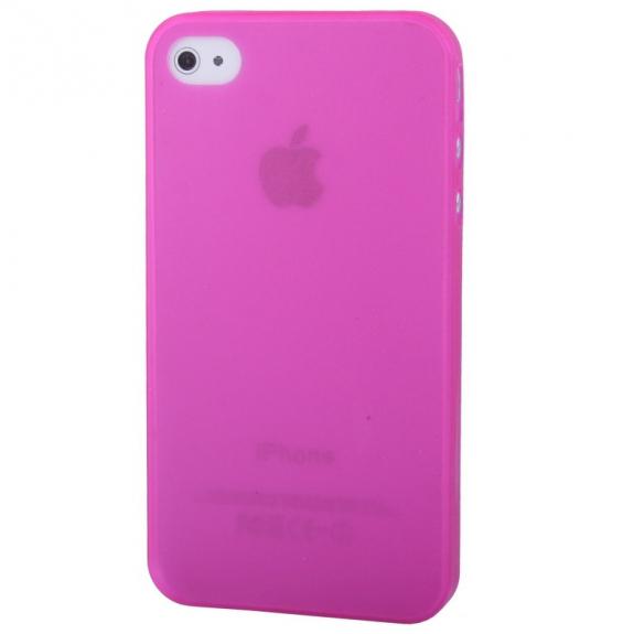 AppleKing ultra tenký (0.3mm) poloprůhledný matný kryt pro iPhone 4 / 4S - růžový - možnost vrátit zboží ZDARMA do 30ti dní