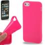 Gumový hladký kryt pro iPhone 5 / 5S / SE - růžový