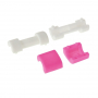 Plastová ochrana / rozlišovač nabíjecích kabelů - bílo-růžová