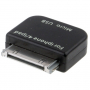Redukce micro USB / 30pin konektor pro iPhone / iPad / iPod - černá