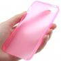 Ultra tenký (0.3mm) poloprůhledný matný kryt pro iPhone 5 / 5S / SE - růžový