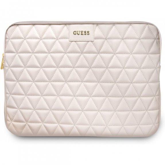 """Guess Quilted prošívaná brašna pro MacBook 13"""" - růžová 3700740471579 - možnost vrátit zboží ZDARMA do 30ti dní"""