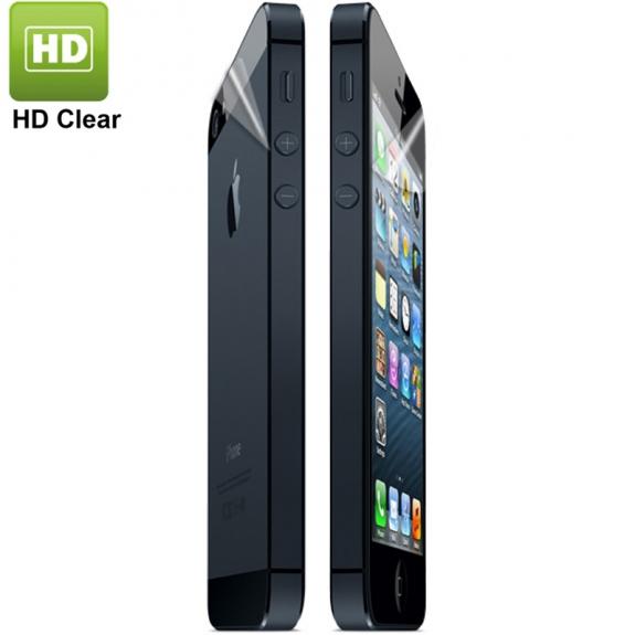 Ochranná přední a zadní fólie pro iPhone 5 / 5C / 5S / SE - čirá