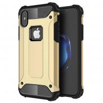 "Super odolný ""Armor"" kryt na iPhone XS / iPhone X - zlatý"