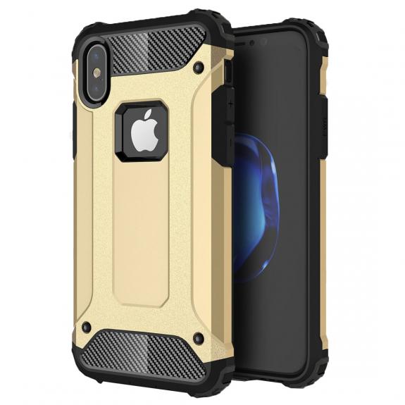 """AppleKing super odolný """"Armor"""" kryt na iPhone XS / iPhone X - zlatý - možnost vrátit zboží ZDARMA do 30ti dní"""