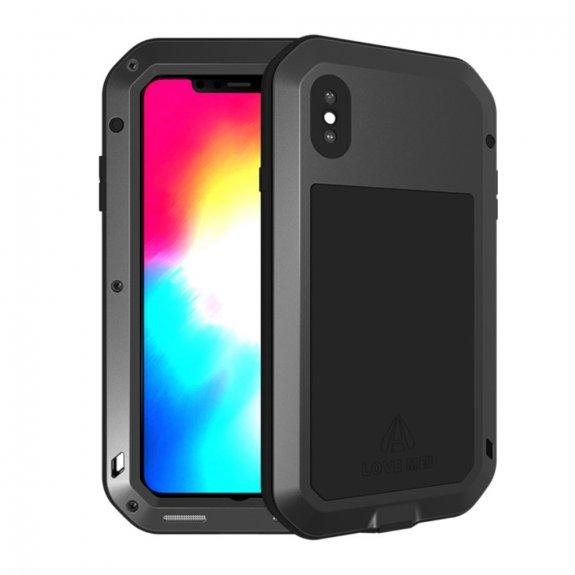 Love Mei super odolné pouzdro proti nárazu / vodě / prachu pro iPhone XS Max - černé - možnost vrátit zboží ZDARMA do 30ti dní