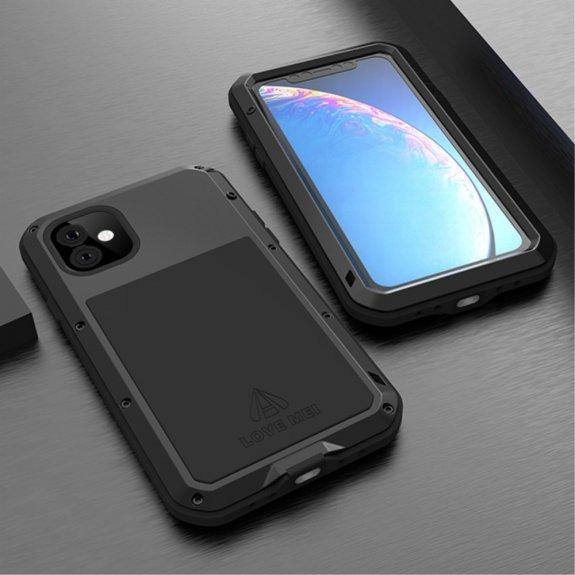 Love Mei super odolné pouzdro proti nárazu / vodě / prachu pro iPhone 11 - černé - možnost vrátit zboží ZDARMA do 30ti dní