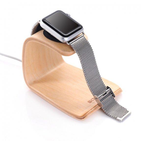 Samdi dřevěná dokovací stanice pro Apple Watch / iPhone - světlé dřevo - možnost vrátit zboží ZDARMA do 30ti dní