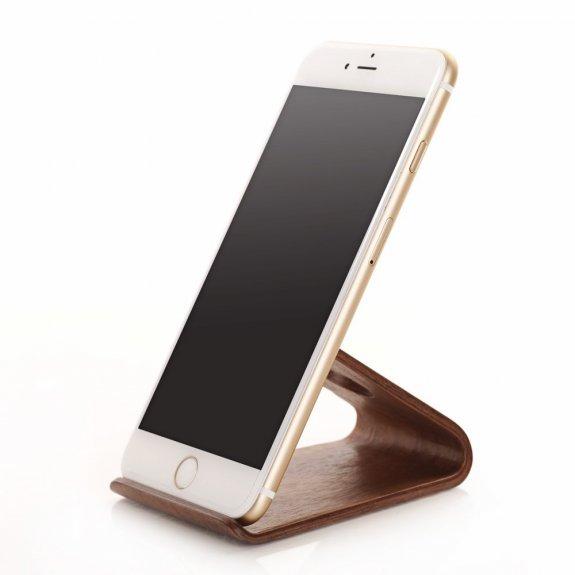 Samdi univerzální dřevěný stojánek pro iPhone - kávově hnědý - možnost vrátit zboží ZDARMA do 30ti dní