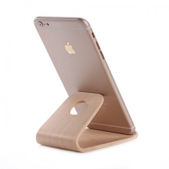 Samdi univerzální dřevěný stojánek pro iPhone - hnědý - možnost vrátit zboží ZDARMA do 30ti dní