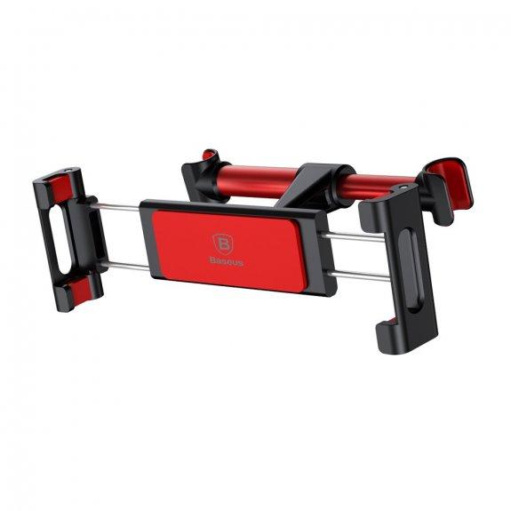 Baseus nastavitelný držák na opěrku do auta pro iPhone / iPad - červený - možnost vrátit zboží ZDARMA do 30ti dní