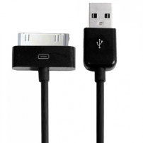 Synchronizační a nabíjecí 30pin kabel pro iPhone / iPod / iPad - 1m - černý