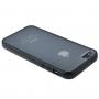 Ochranný průhledný plastový kryt s rámečkem pro iPhone 5 / 5S / SE - černý
