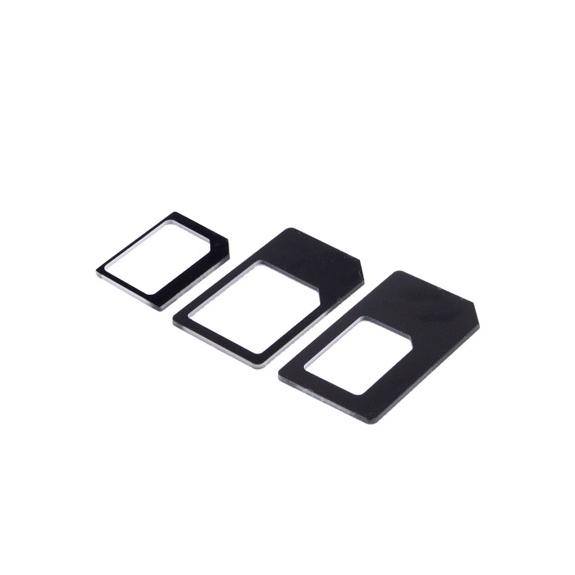 AppleKing redukce z Nano SIM karty na Micro SIM a na standardní SIM + redukce Micro SIM na standart