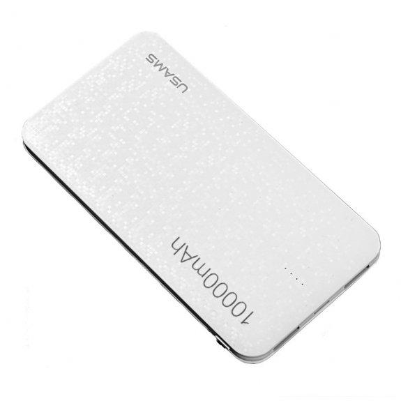 USAMS stylová powerbanka 10000mAh pro Apple zařízení - bílá mozaika - možnost vrátit zboží ZDARMA do 30ti dní