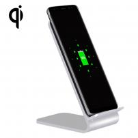 YoLike stojánek s QI bezdrátovou nabíječkou pro iPhone - stříbrná