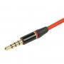 Prodlužovací audio kabel 3.5mm Jack pro iPhone / iPad / iPod / MP3 - 1.2m červený