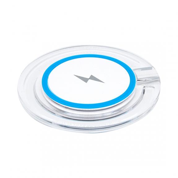 AppleKing bezdrátová QI nabíječka s rychlým nabíjením a se světelnou indikací pro iPhone / 8 / 8 Plus - modrá - možnost vrátit zboží ZDARMA do 30ti dní