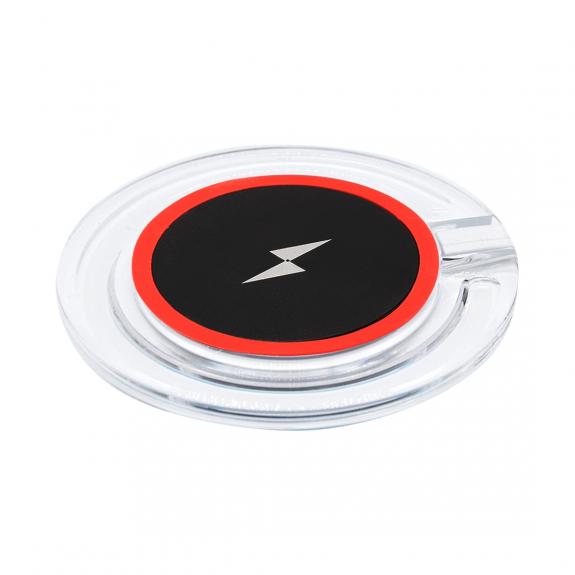 AppleKing bezdrátová QI nabíječka s rychlým nabíjením a se světelnou indikací pro iPhone / 8 / 8 Plus - červená - možnost vrátit zboží ZDARMA do 30ti dní