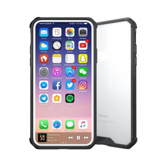AppleKing ochranný plastový kryt pro iPhone XS / iPhone X - černá - možnost vrátit zboží ZDARMA do 30ti dní