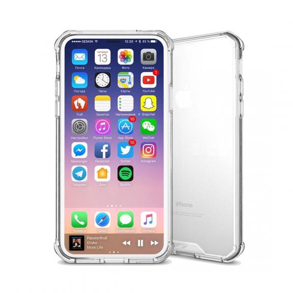 AppleKing ochranný plastový kryt pro iPhone XS / iPhone X - transparentní - možnost vrátit zboží ZDARMA do 30ti dní