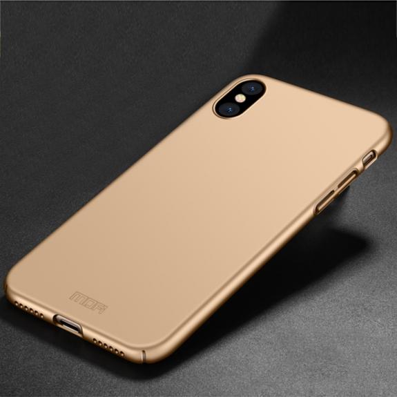 MOFI ultratenký ochranný kryt pro iPhone XS / iPhone X - zlatý - možnost vrátit zboží ZDARMA do 30ti dní