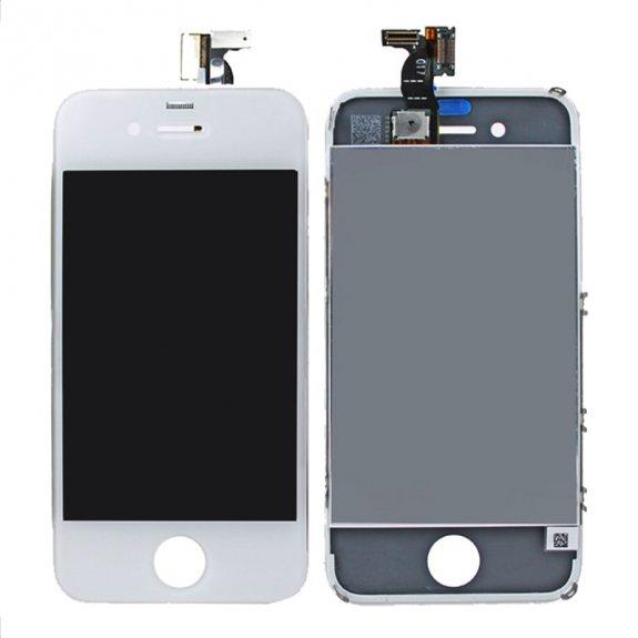 AppleKing premium LCD displej s dotykovým sklem a rámečkem pro Apple iPhone 4 - bílý - možnost vrátit zboží ZDARMA do 30ti dní