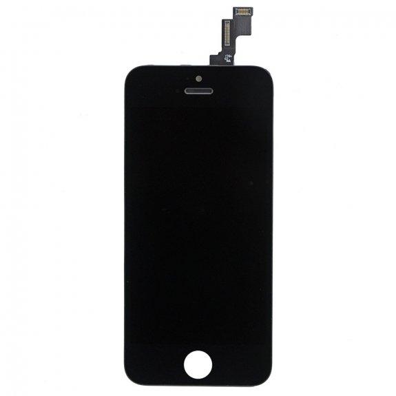 AppleKing premium náhradní LCD displej s dotykovým sklem a rámečkem pro Apple iPhone 5S - černý - možnost vrátit zboží ZDARMA do 30ti dní