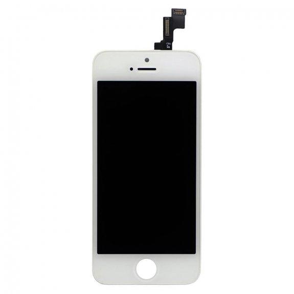 AppleKing refurbished Original náhradní LCD displej s dotykovým sklem a rámečkem pro Apple iPhone 5S - bílý - možnost vrátit zboží ZDARMA do 30ti dní
