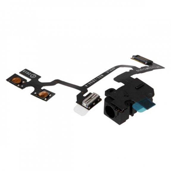 AppleKing flex kabel s Audio Jack konektorem, tlačítky hlasitosti a tlačítkem ztlumení pro Apple iPhone 4 - černý - možnost vrátit zboží ZDARMA do 30ti dní