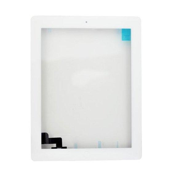 AppleKing classic přední dotykové sklo (touch screen) pro Apple iPad 2 s tlačítkem Home Button a lepidlem - bílé - možnost vrátit zboží ZDARMA do 30ti dní
