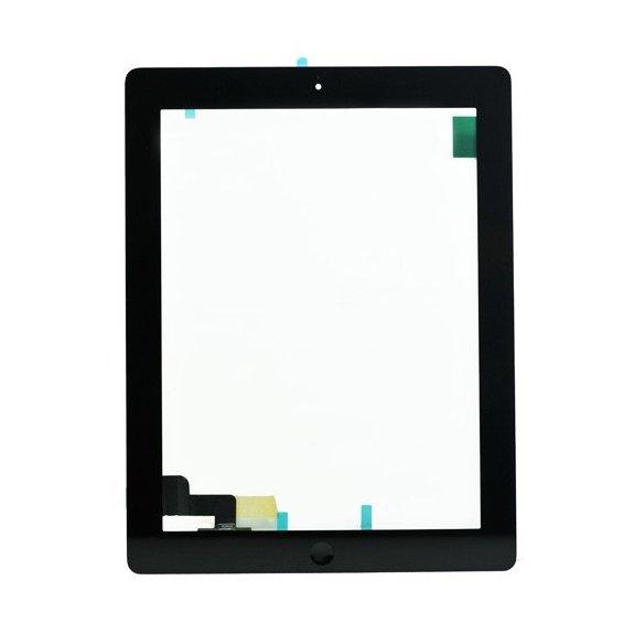 AppleKing classic přední dotykové sklo (touch screen) pro Apple iPad 2 s tlačítkem Home Button a lepidlem - černé - možnost vrátit zboží ZDARMA do 30ti dní