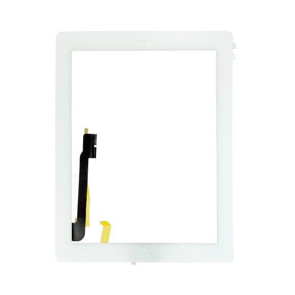 AppleKing premium přední dotykové sklo (touch screen) pro Apple iPad 3 s tlačítkem Home Button a lepidlem - bílé - možnost vrátit zboží ZDARMA do 30ti dní