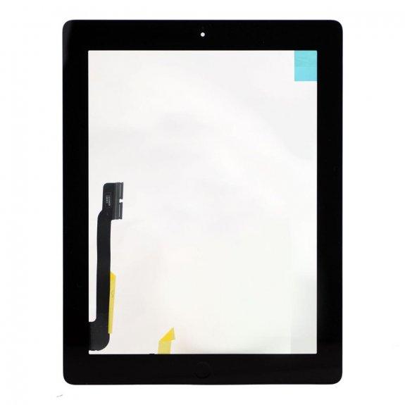 AppleKing premium přední dotykové sklo (touch screen) pro Apple iPad 4 s tlačítkem Home Button a lepidlem - černé - možnost vrátit zboží ZDARMA do 30ti dní