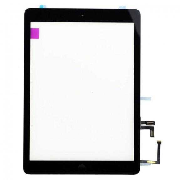 AppleKing classic přední dotykové sklo (touch screen) pro Apple iPad Air s tlačítkem Home Button a lepidlem - černé - možnost vrátit zboží ZDARMA do 30ti dní