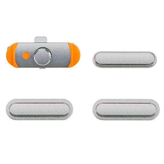 AppleKing náhradní postranní tlačítka pro Apple iPad Air (Hlasitost + Zapnutí / vypnutí + Ztlumení) - stříbrná - možnost vrátit zboží ZDARMA do 30ti dní