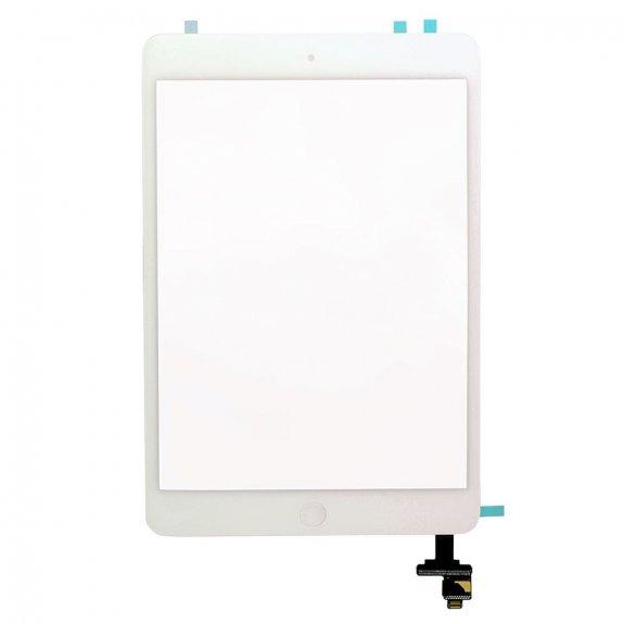 AppleKing premium přední dotykové sklo (touch screen) pro Apple iPad mini s tlačítkem Home Button a lepidlem - bílé - možnost vrátit zboží ZDARMA do 30ti dní