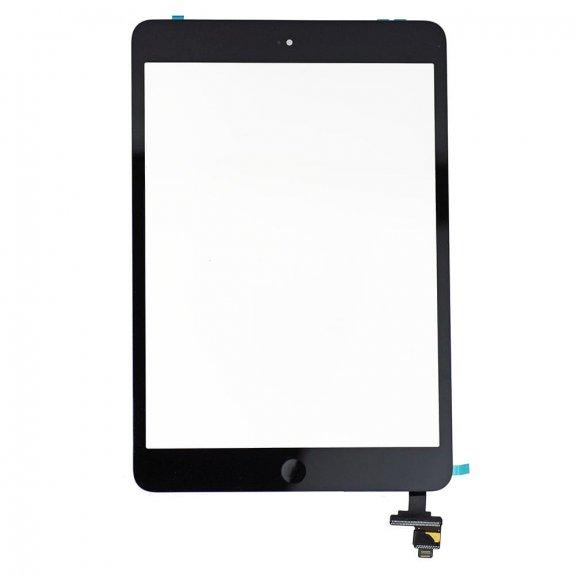 AppleKing premium přední dotykové sklo (touch screen) pro Apple iPad mini s tlačítkem Home Button a lepidlem - černé - možnost vrátit zboží ZDARMA do 30ti dní