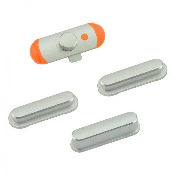AppleKing náhradní postranní tlačítka pro Apple iPad Mini (Hlasitost + Zapnutí / vypnutí + Ztlumení) - stříbrná (Silver) - možnost vrátit zboží ZDARMA do 30ti dní