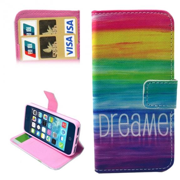 Pouzdro s integrovaným stojánkem a prostoren na doklady pro iPhone 5 / 5S / SE - Dreamer