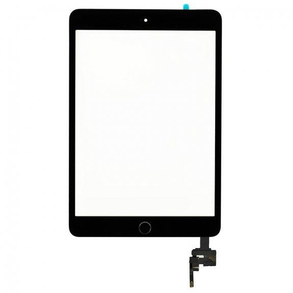 AppleKing classic přední dotykové sklo (touch screen) pro Apple iPad mini 3 s tlačítkem Home Button a lepidlem - černé - možnost vrátit zboží ZDARMA do 30ti dní