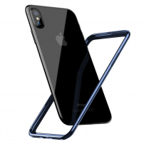 BASEUS ochranný rámeček / bumper pro iPhone XS / iPhone X - tmavě modrý