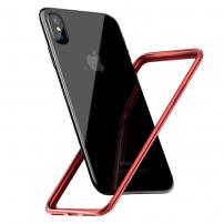 BASEUS ochranný rámeček / bumper pro iPhone XS / iPhone X - červený