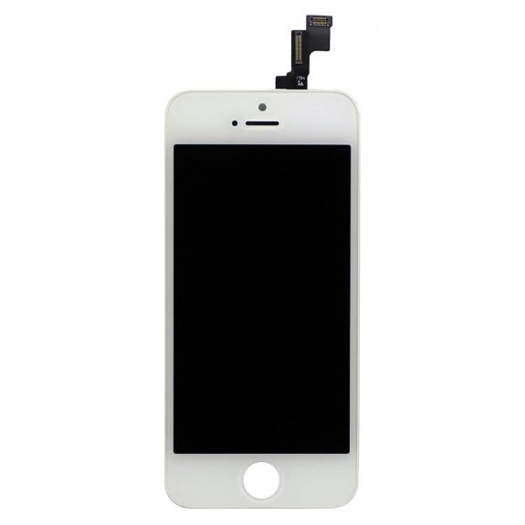 AppleKing premium náhradní LCD displej s dotykovým sklem a rámečkem pro Apple iPhone SE - bílý - možnost vrátit zboží ZDARMA do 30ti dní