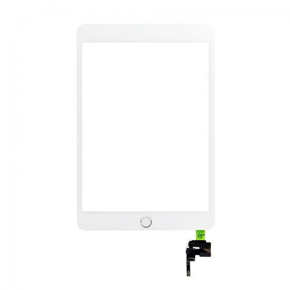 AppleKing premium přední dotykové sklo (touch screen) pro Apple iPad mini 3 s tlačítkem Home Button a lepidlem - bílé - možnost vrátit zboží ZDARMA do 30ti dní