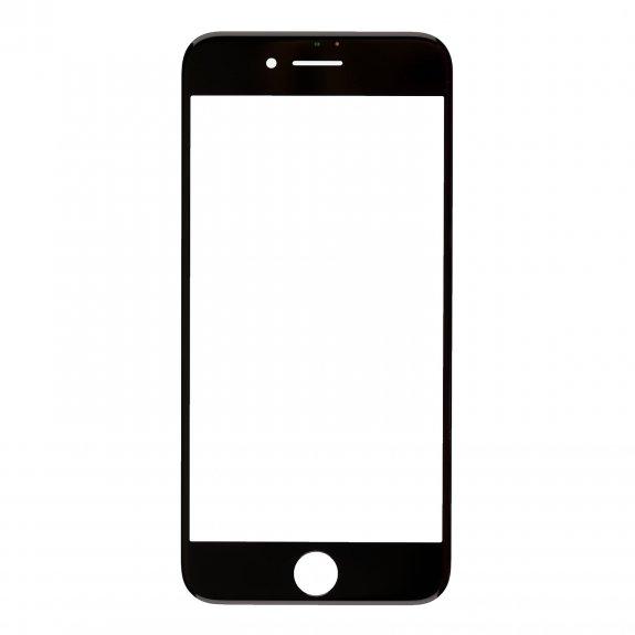 AppleKing přední dotykové sklo, včetně OCA lepidla, rámečků pro přední fotoaparát, proximity sensor a mřížky pro sluchátko, pro iPhone 7 - černá - možnost vrátit zboží ZDARMA do 30ti dní