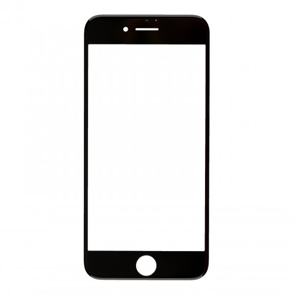AppleKing přední dotykové sklo, včetně OCA lepidla, rámečků pro přední fotoaparát, proximity sensor a mřížky pro sluchátko, pro iPhone 8 - černá - možnost vrátit zboží ZDARMA do 30ti dní