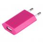 Nabíječka / adaptér pro iPhone / iPod Touch (5V / 1A) - růžová